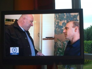Mark Lazenby showing how the work should be done on the BBC's Cowboy Builders